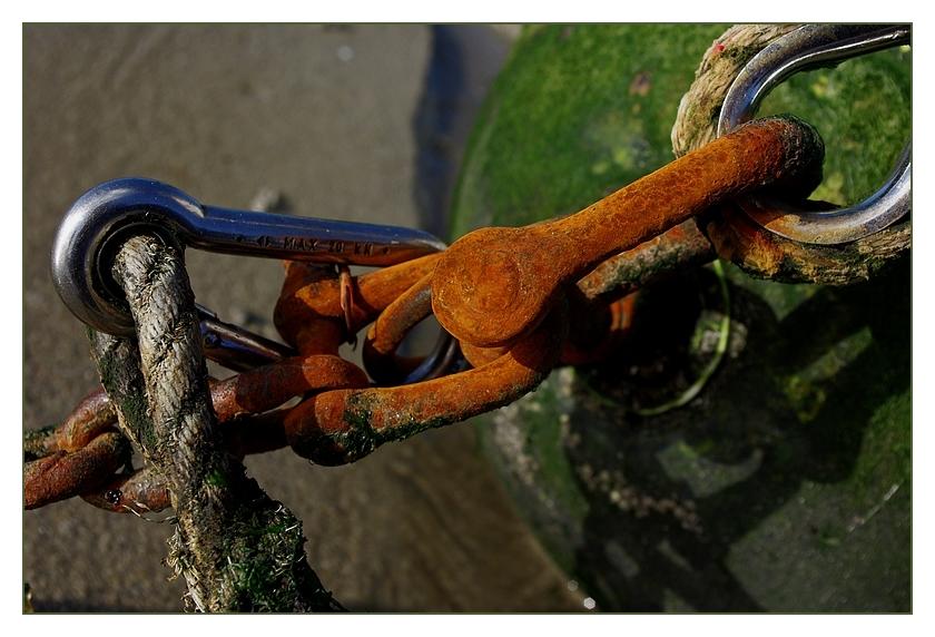 chaine mousqueton bouée bateau