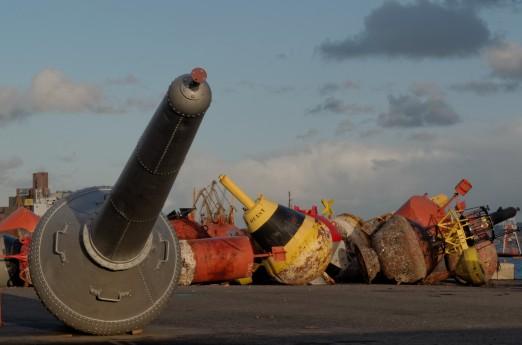 balises marines, port de commerce, Brest