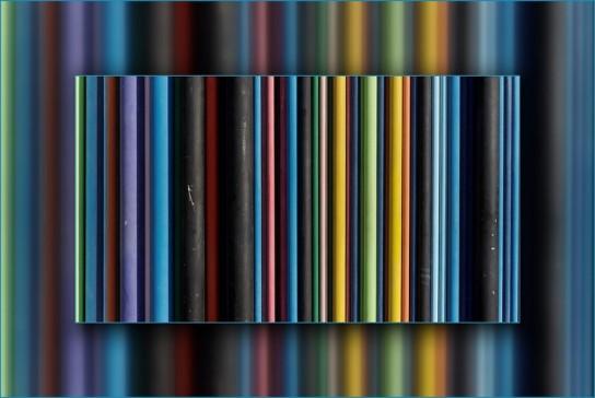 tubes de couleurs de la cheminée Moretti - La Défense