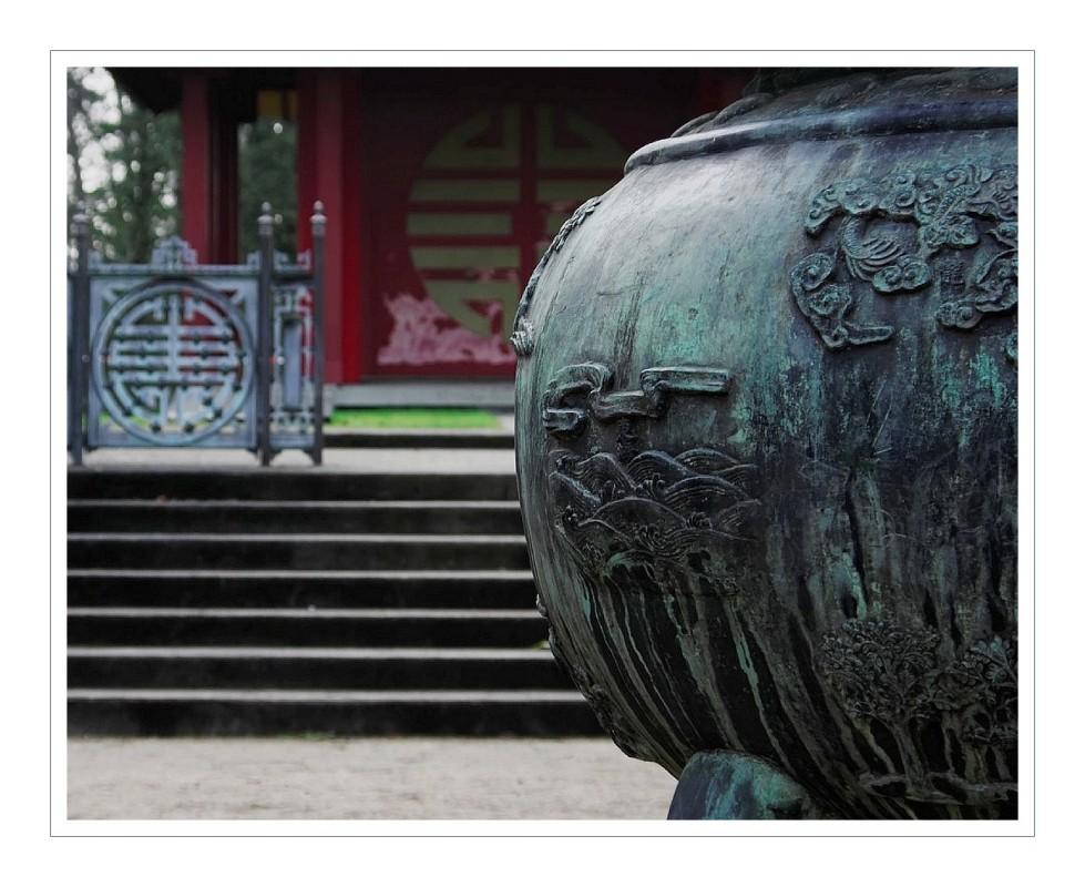 urne dynastique jardin tropical de Vincennes