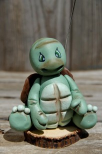 tortue porte photo enporcelaine froide