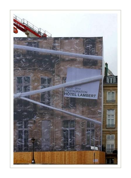 bâche rénovation hotel Lambert
