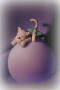 chat sur veilleuse