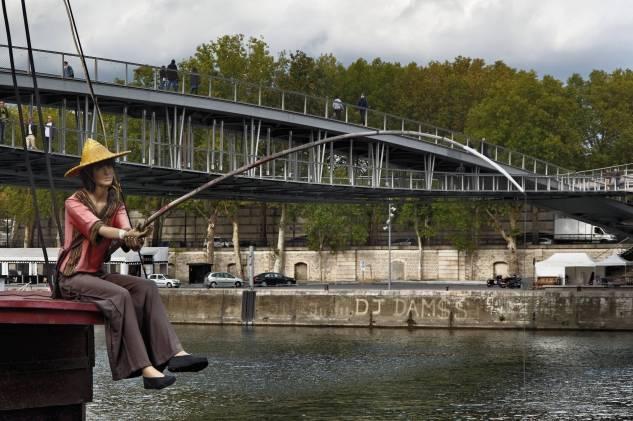 Paris, Bercy, bord de Seine, bateau resto