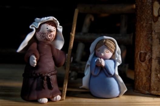 joseph et marie en porcelaine frodie