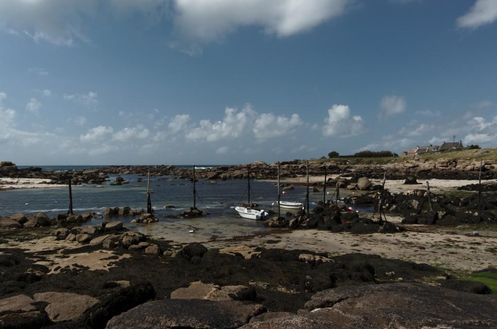 Port Mazou, mouillage pieux de bois, Porspoder, Melon, Lanildut