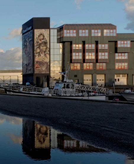 Gand Large à Brest, port de commerce, toile de Paul Bloas