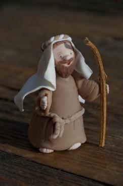 Joseph de la crèche de noël en porcelaine froide, PAM,