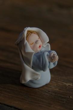 Marie de la crèche de noël en porcelaine froide, PAM,