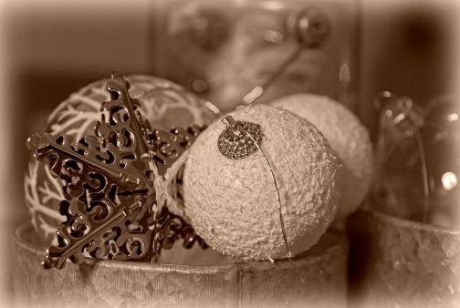 décoration noel sépia