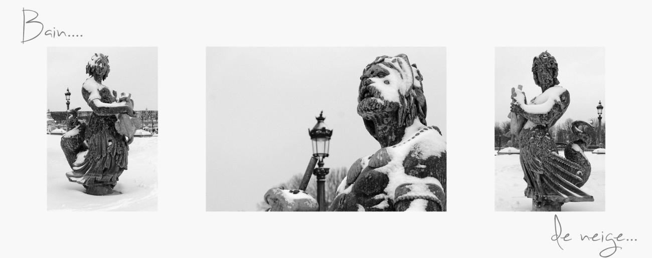 triptyque détail statues Fontaine de la Mer