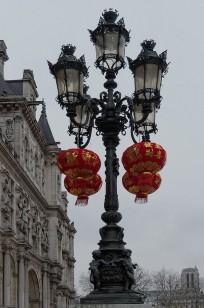 Candélabre Place de l'Hotel de Ville Paris