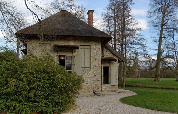 la maison aux coquillages dans le parc du château de Rambouillet