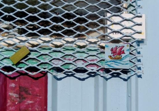 détail cabane du port de Maison Blanche - Brest