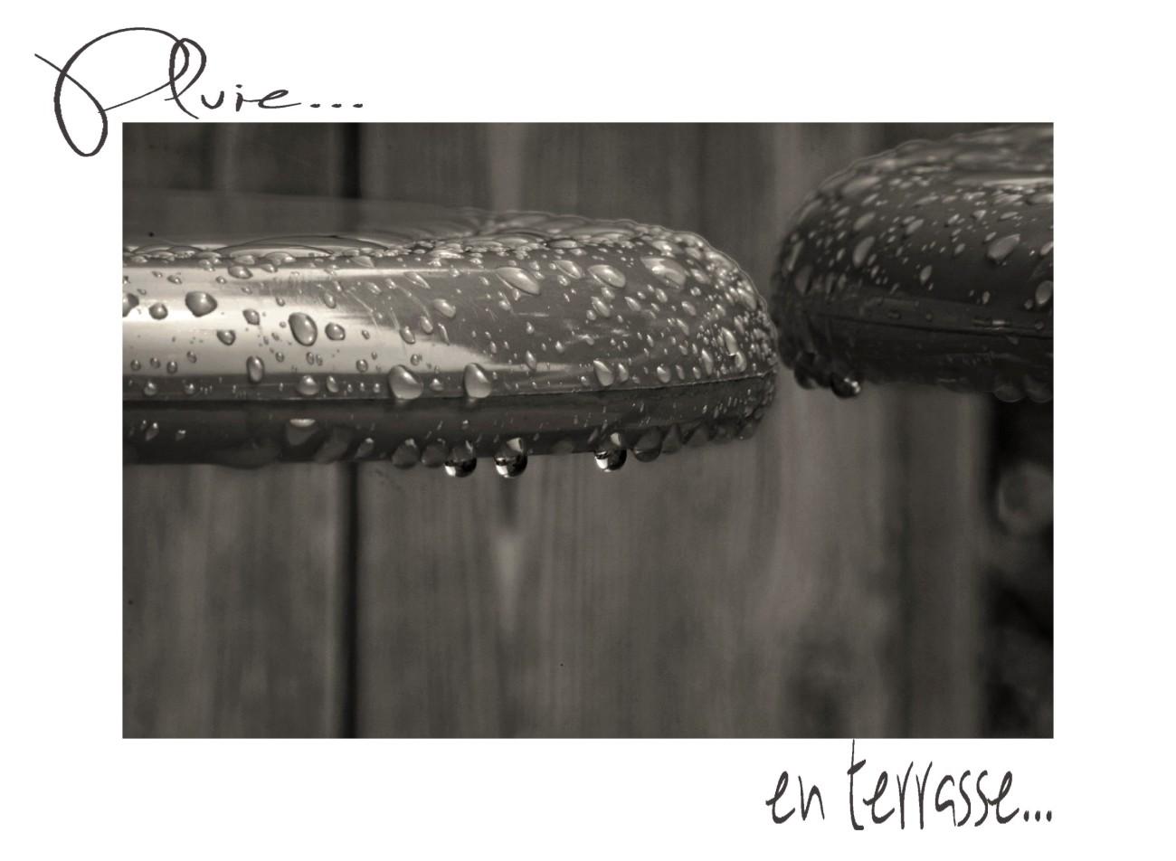 pluie, gouttes, noir et blanc, tabourets de jardin, photos,