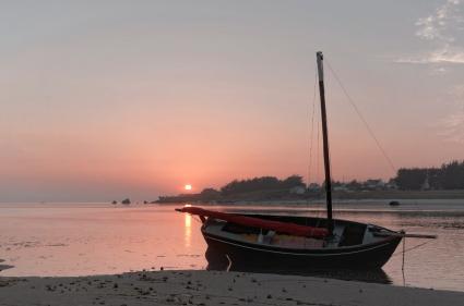 coucher de soleil baie de Guissény