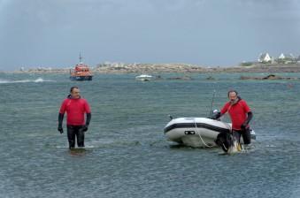 chien terre neuve, sauvetage en mer, fête de la mer à Guissény juillet 2013, SNSM