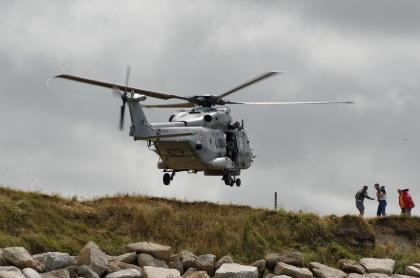 sauvetage en mer, décollage hélicoptère marine nationale, fête de la mer à Guissény juillet 2013, SNSM