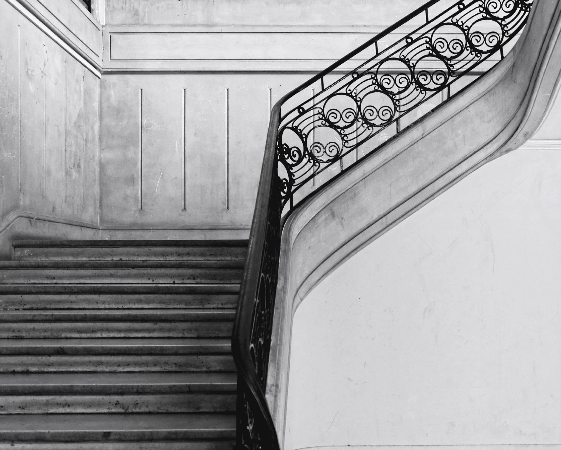 L escalier la tribu d 39 anaximandre des photos au fil des jours de da - Escalier noir et blanc ...