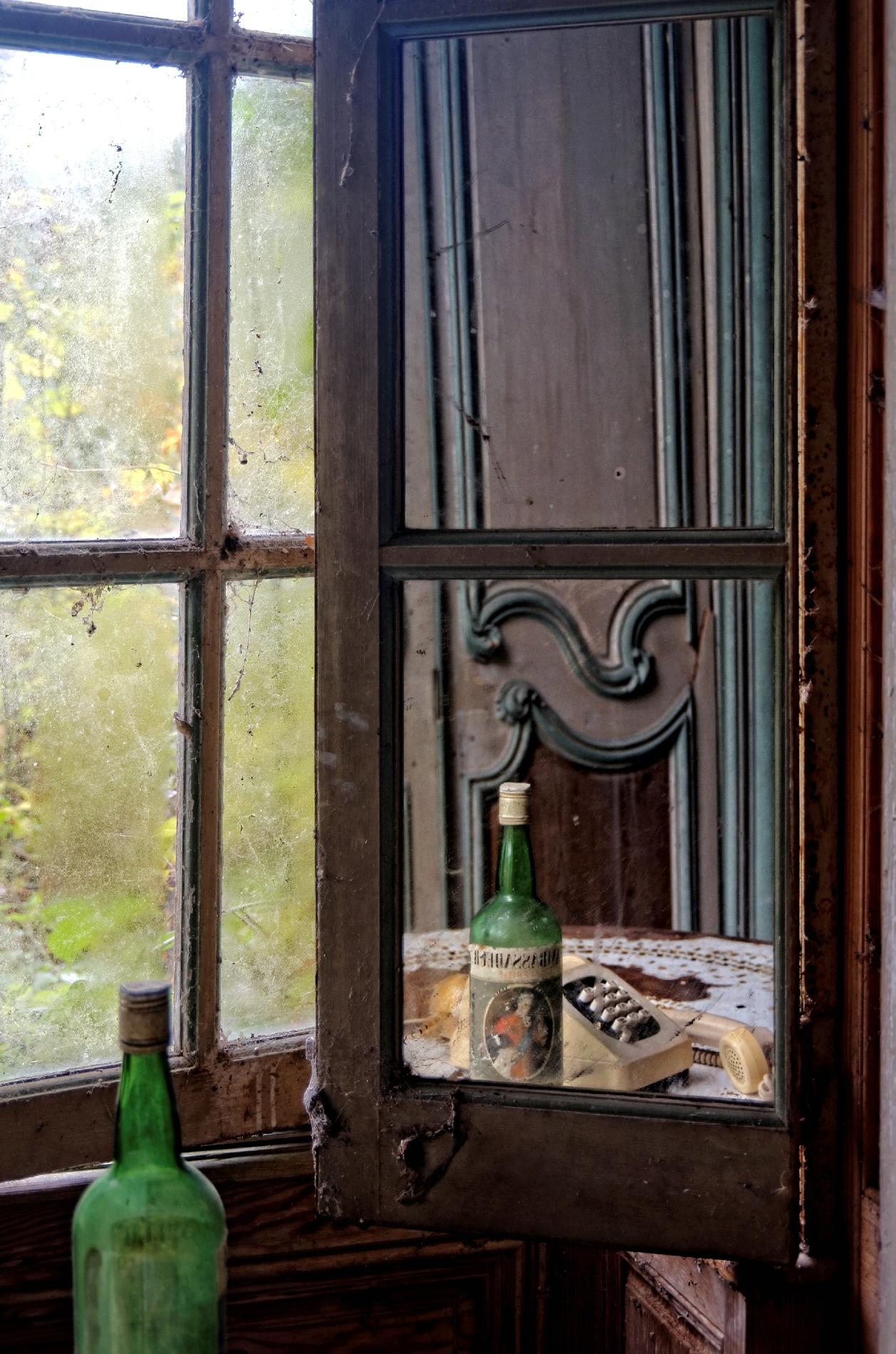 Volet int rieur en miroir ch teau des singes urbex for Impression en miroir