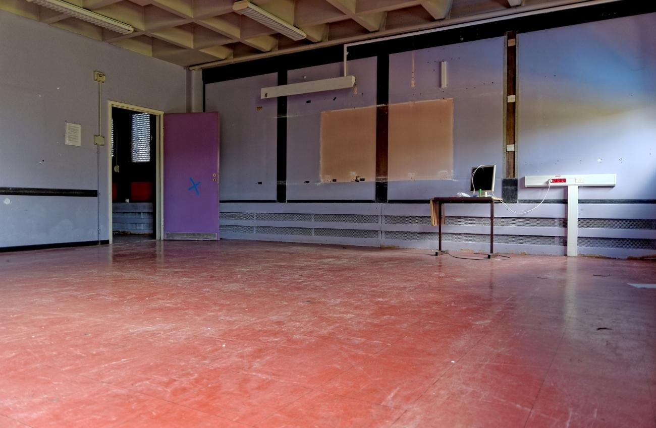urbex, salle de classe, destruction, lycée Jacques Prévert, Longjumeau,