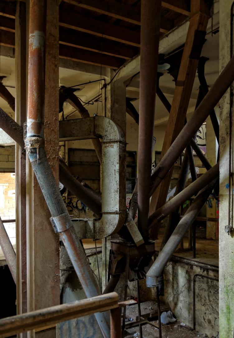 l'usine aux grenouilles, forêt de tuyaux, tour principale