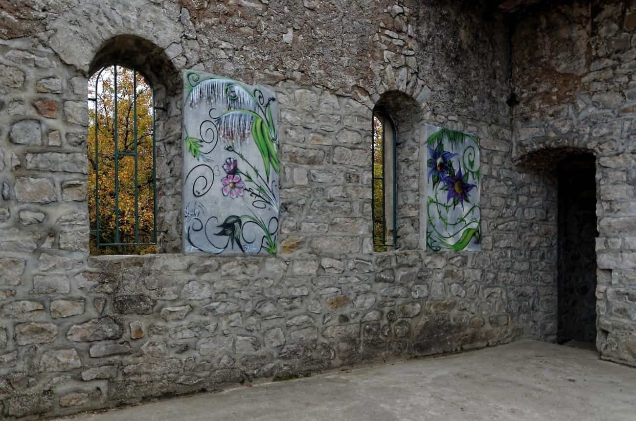 intérieur de laTour Buisson, forêt des Grands Avaux, Champceuil, forêt,