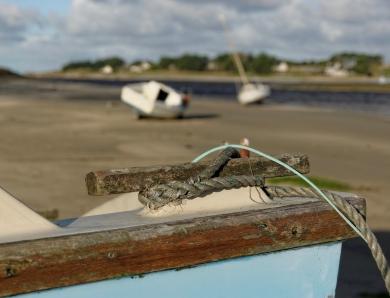 détails bateau à la baie de Guissény