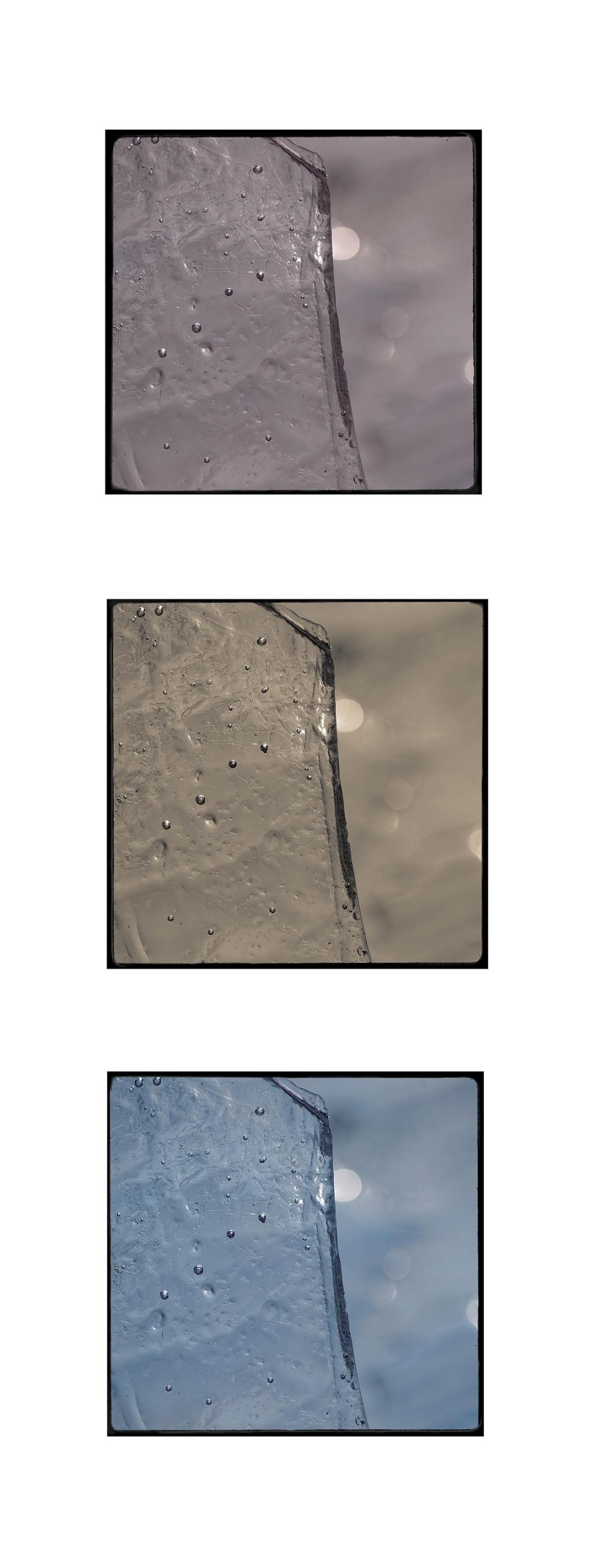 triptyque eau gelée bassin, glace, eau gelée, nature morte,  smc PENTAX D-FA MACRO 100mm f/2.8 WR