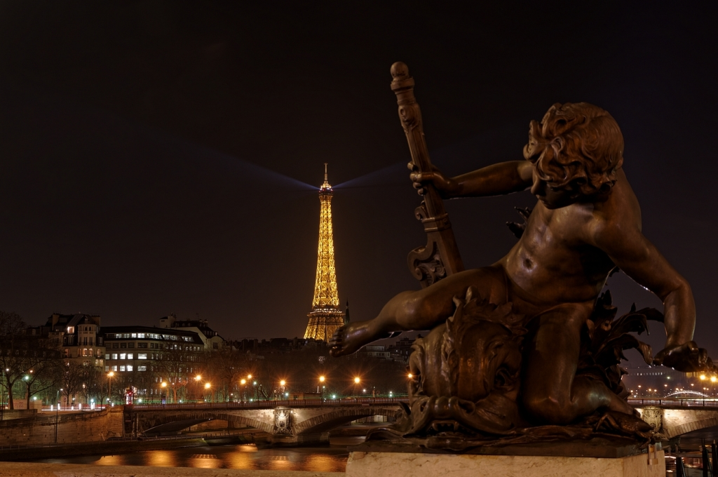 Paris, Tour Eiffel, Tour Effeil de nuit, Paris by night, Pont Alexandre III, photos de nuit