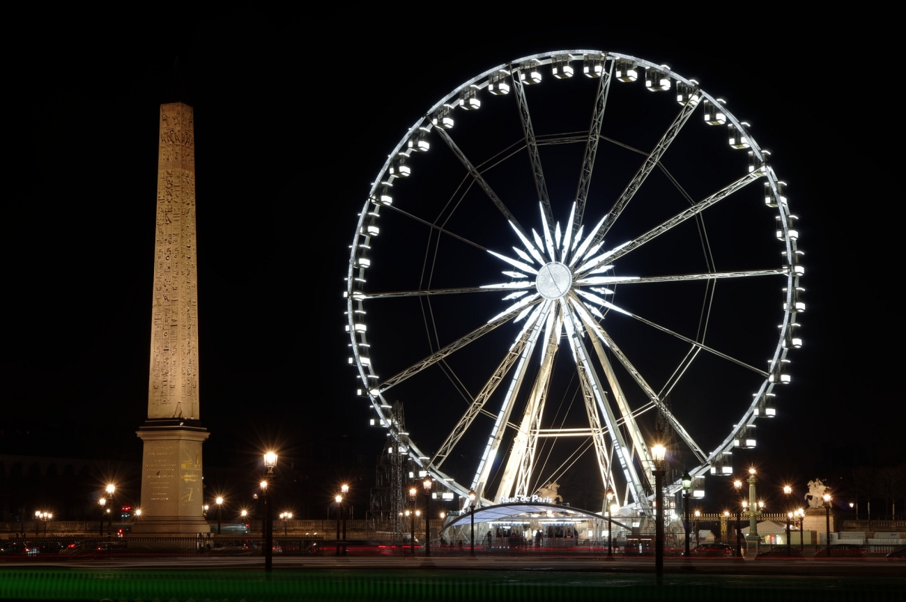 Place de la COncorde Paris, Grande Roue de Paris, Paris de nuit, Paris, photos de nuit,