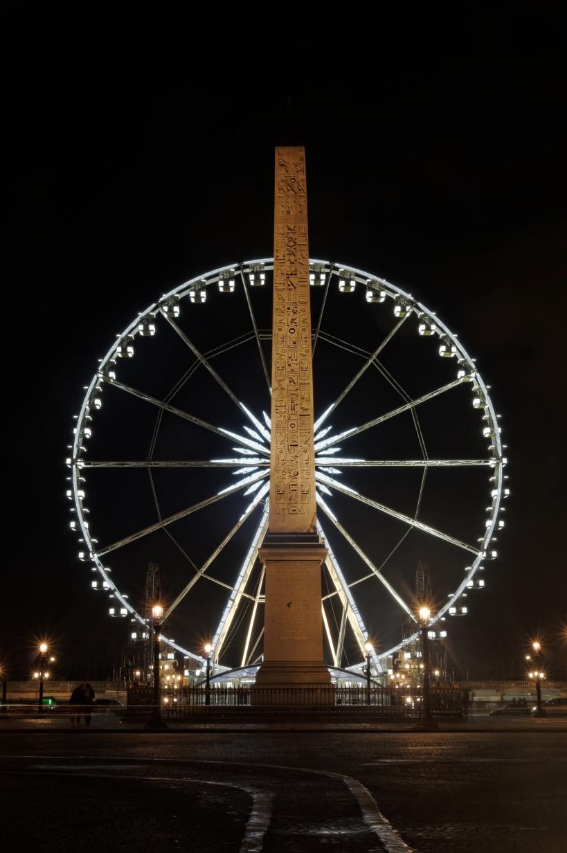 Place de la COncorde Paris, Grande Roue de Paris, Paris de nuit, Paris, photos de nuit,