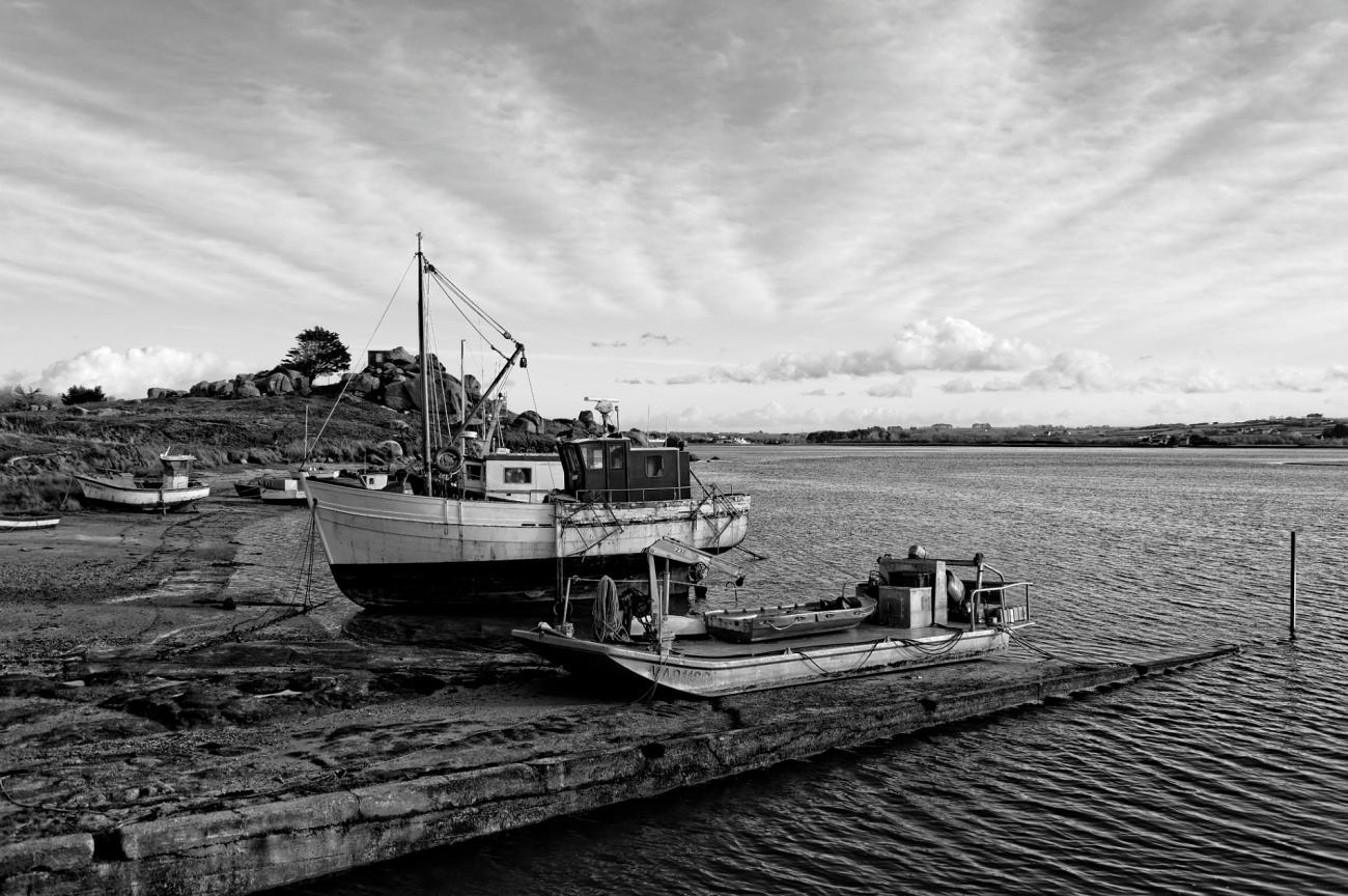 bateaux, Guirnivit, Plouescat, finistère, bretagne,