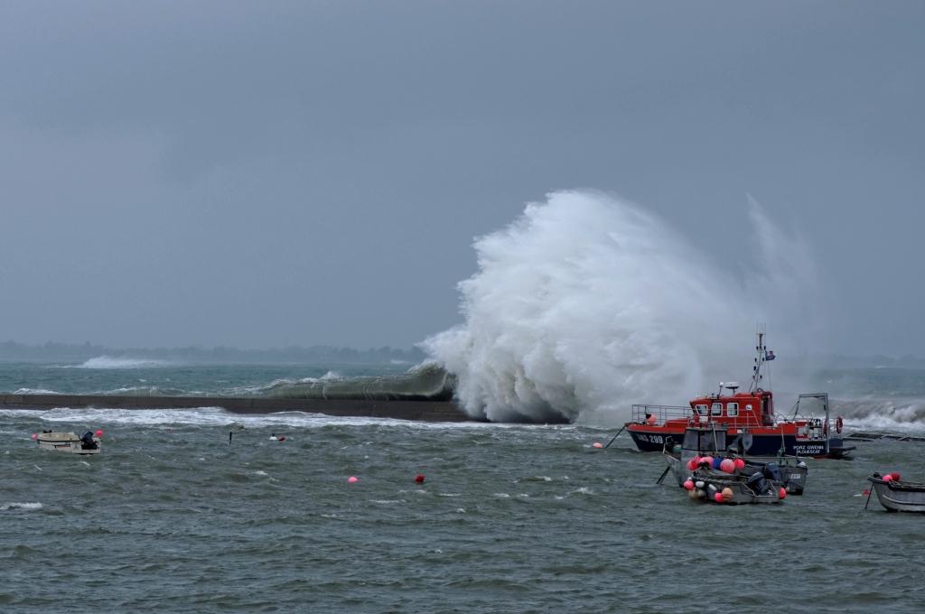 tempête du 01/01/2014, vagues, Pors Gwen, bretagne, finistère