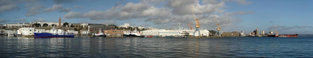 pano port de brest, Brest, port, bateaux, cours Dajot, quai Armand Considéré, quai de l'Est, bretagne, finistère