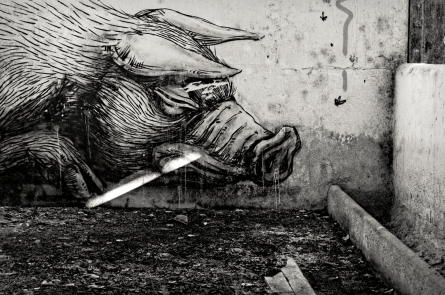 ROA, tags, ancien abattoirs à cochons