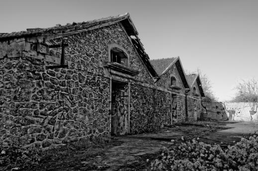 abattoir à cochons, bâtiment abritant les soues