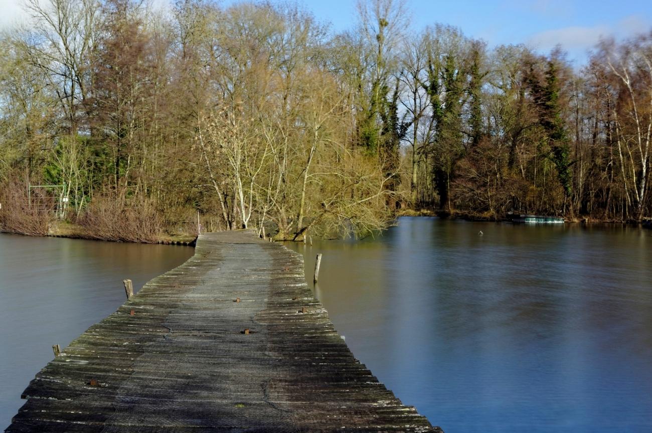 étangs de Vert le Petit, étant, pose longue, photo, essonne