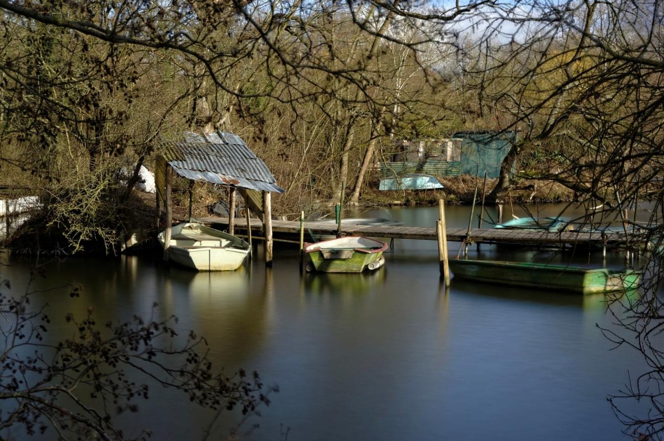 pose longue, étangs, étangs de Vert-le-Petit, cabanes pêcheurs, barques, ilots de pêcheurs, essonne