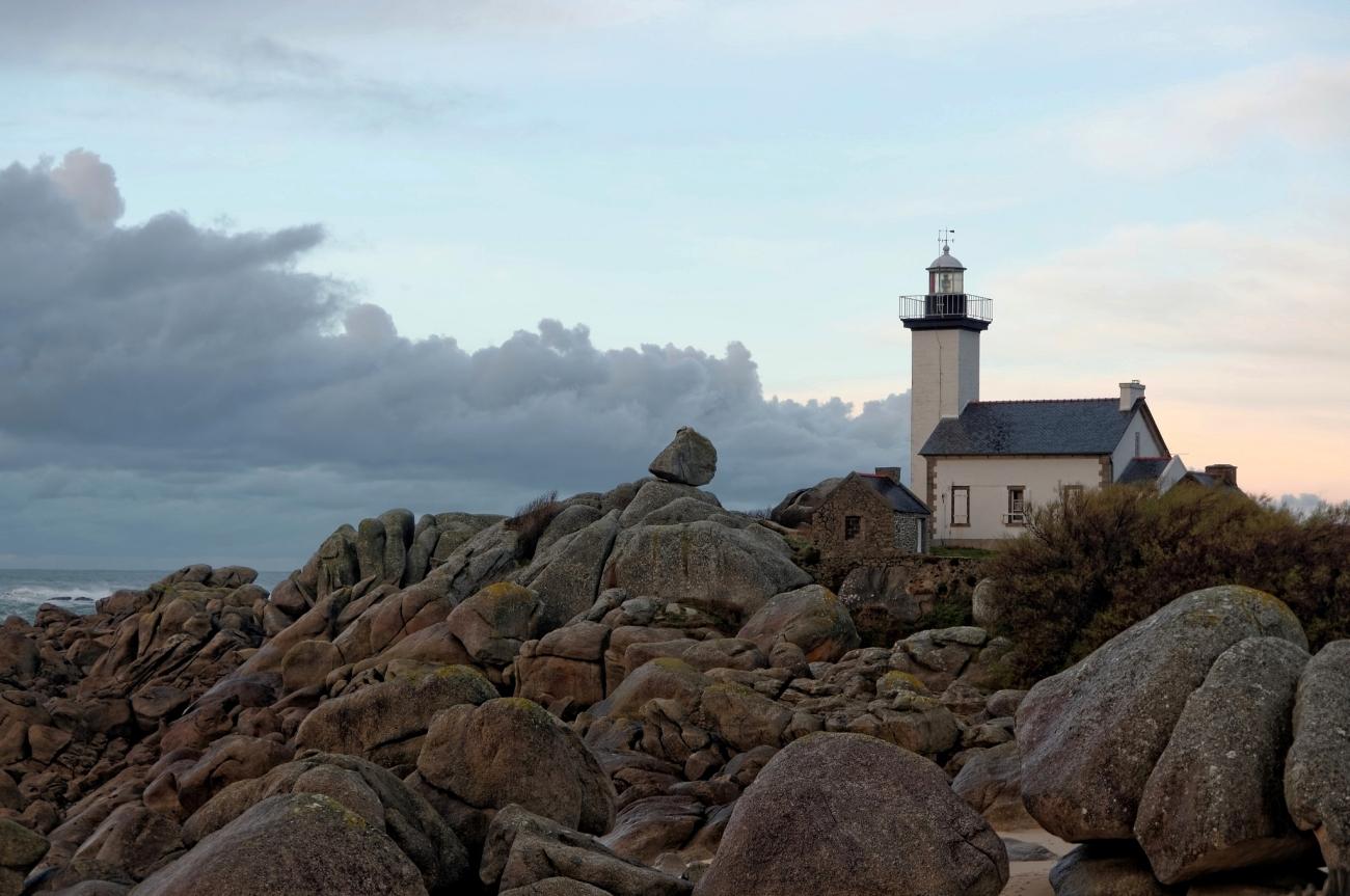 Phare de Pontusval, rochers, Brignogan-Plages, phare, finistère, bretagne