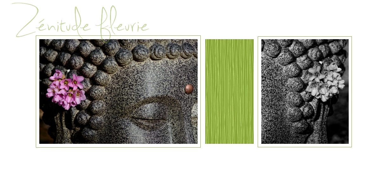 bouddha, fleur, nature morte, diptiyque