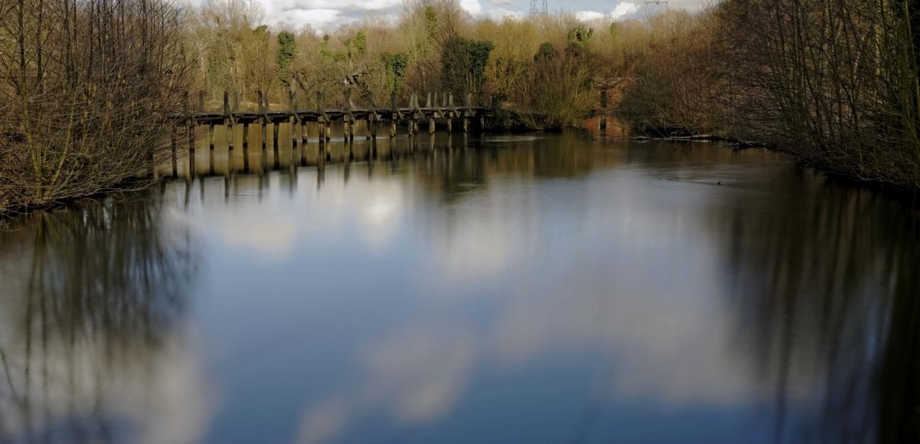 pose longue, étang, passerelle, Etangs de Vert-le-Petit,