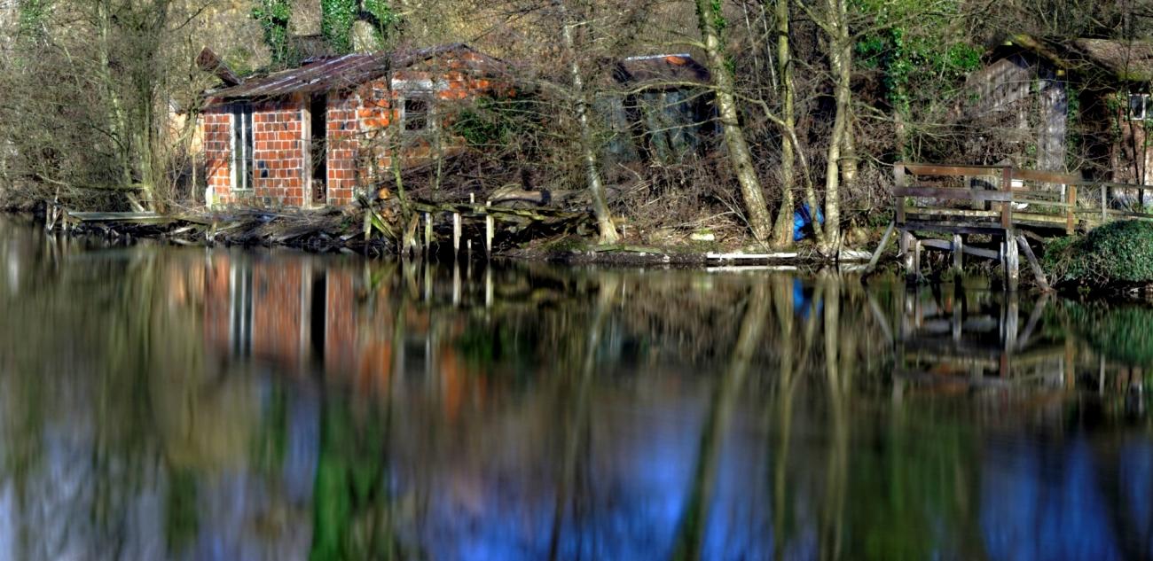cabane de pêcheur, étang, Etangs de Vert-le-Petit, pose longue,