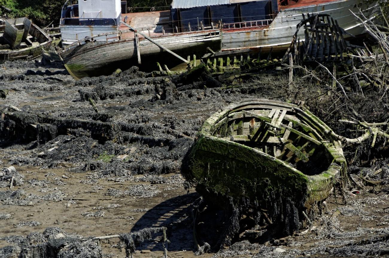 épaves bateaux, vieilles coques, Audierne, finistère, bretagne