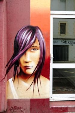 fresque murale à Brest - rue Anatole France