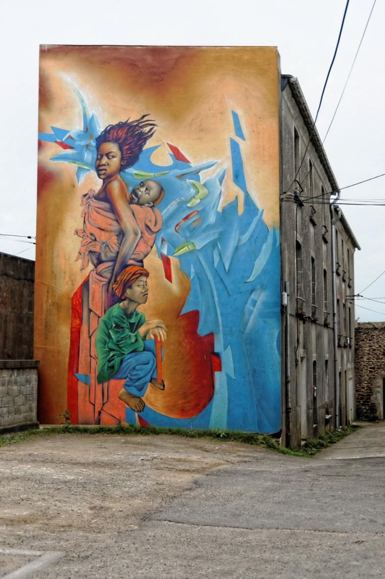 fresque murale à Brest - 257 rue Anatole France