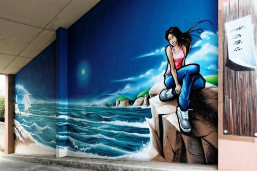 fresque murale à Brest - rue André Kerven