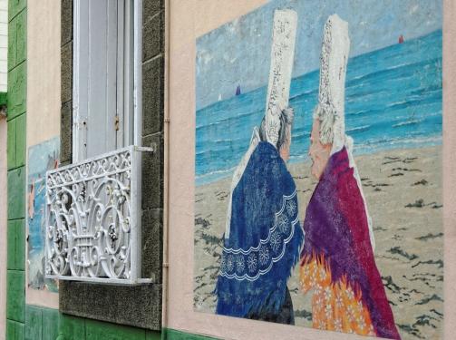fresque murale à Brest - 3 rue Tourot St-Marc