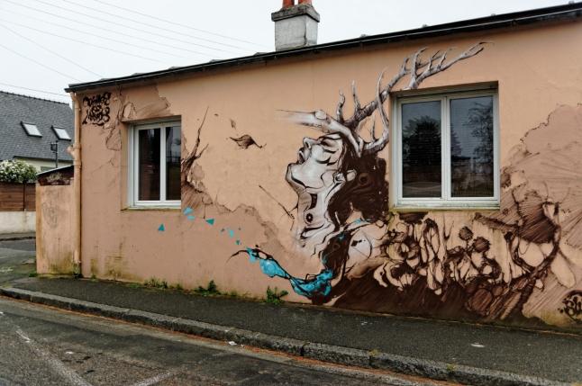 fresque murale à Brest - 3 rue de la Duchesse Anne