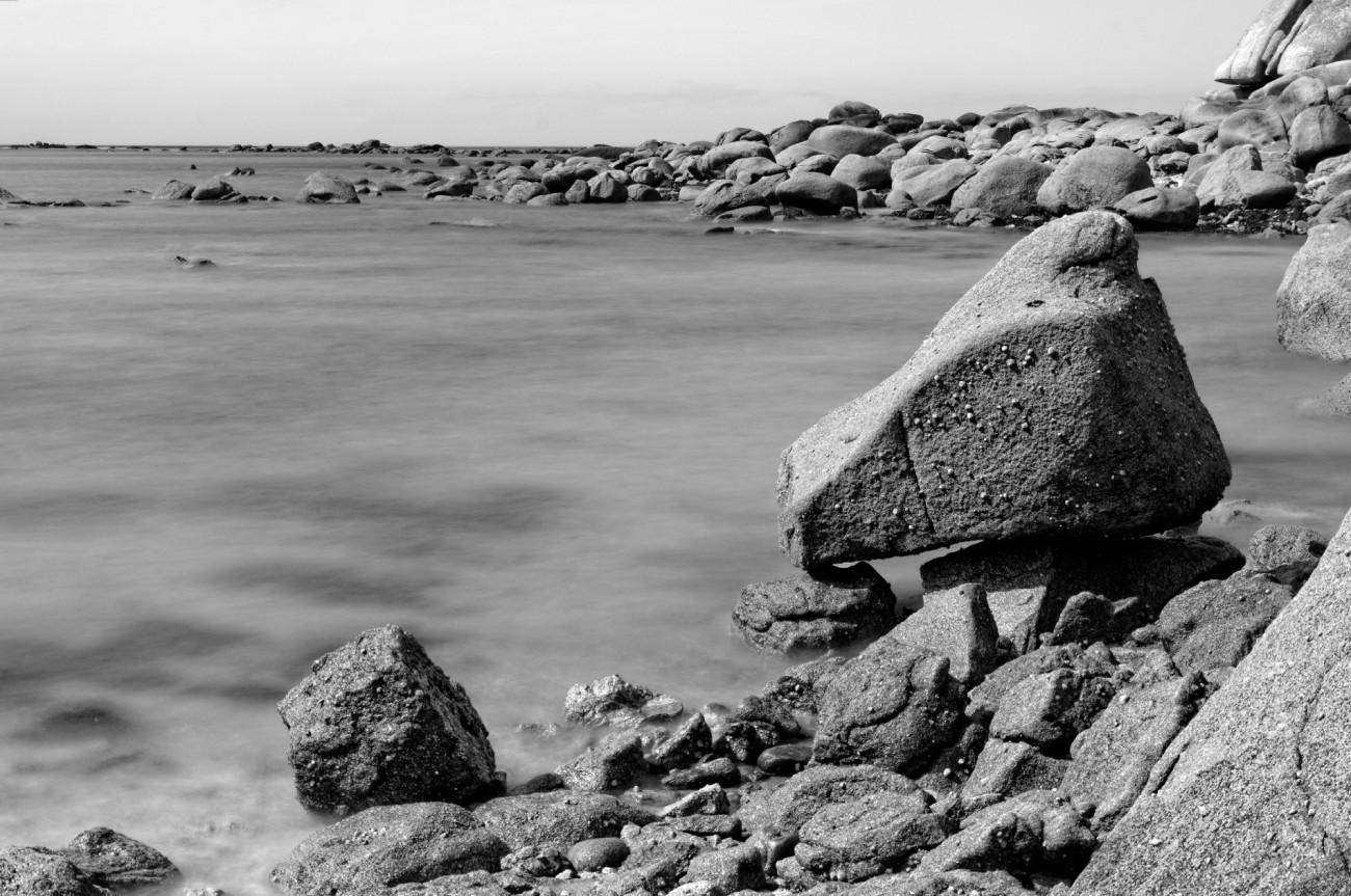 Niez Vran, Kerlouan, pose longue, rochers, mer,